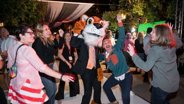 Tigers get down at the Soiree on the Quad during Alumni Reunion Weekend 2019
