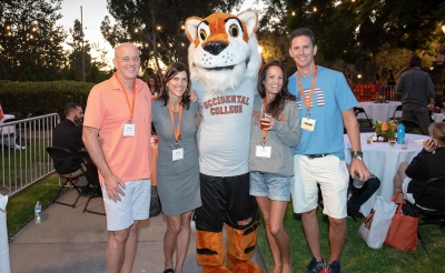 Alumni at Homecoming at Oxy