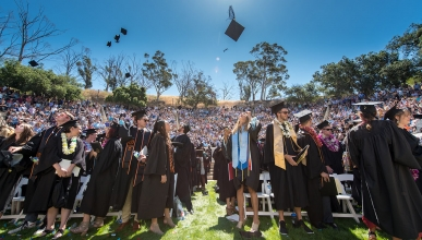 Commencement at Occidental College